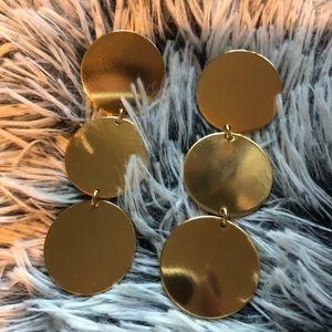 J. Crew Gold Disc Earrings